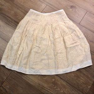 Linen midi circle skirt